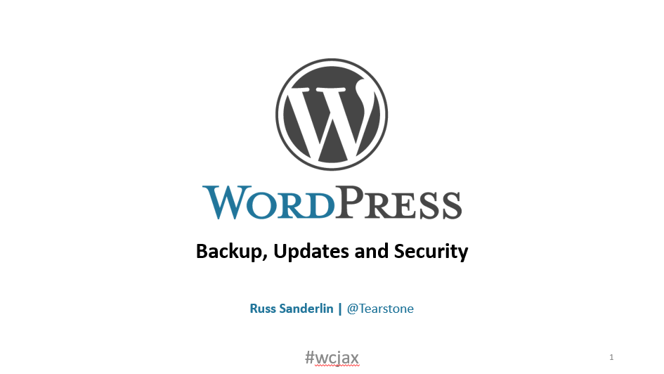 Backup, Updates and Security